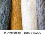 fur  colored naturar fur... | Shutterstock . vector #1083946202