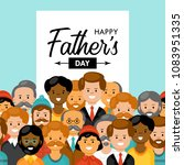 fathers day background with man ... | Shutterstock .eps vector #1083951335