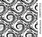 abstract greek black and white... | Shutterstock .eps vector #1083957212