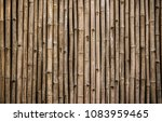 Old Bamboo Wall Texture...