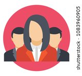flat icon group work. business ... | Shutterstock .eps vector #1083960905