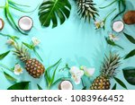 summer tropical background with ... | Shutterstock . vector #1083966452