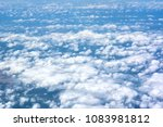 clouds from above  taken from...   Shutterstock . vector #1083981812