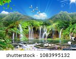 amazing 3d natural view | Shutterstock . vector #1083995132