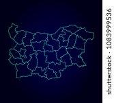 bulgaria region map  detailed...   Shutterstock .eps vector #1083999536