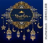 ramadan kareem greeting... | Shutterstock .eps vector #1084011308