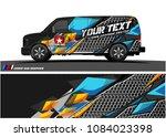 cargo van graphic vector.... | Shutterstock .eps vector #1084023398