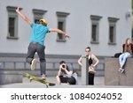 vilnius  lithuania   may 4 ... | Shutterstock . vector #1084024052