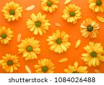 Yellow Flower Pattern On A...