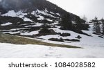 Small photo of View of mountain covered by snow at Kliene Scheidegg on the way to Jungfraujoch, Switzerland