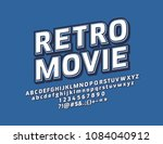 vector bright logo retro movie. ... | Shutterstock .eps vector #1084040912