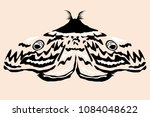 moth vector illustration | Shutterstock .eps vector #1084048622