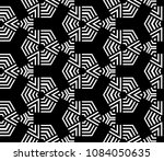 black and white seamless  retro ... | Shutterstock . vector #1084050635