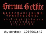 red gothic font | Shutterstock .eps vector #1084061642