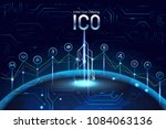 initial ico coin offering... | Shutterstock .eps vector #1084063136