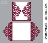 laser cut wedding invitation... | Shutterstock .eps vector #1084063526
