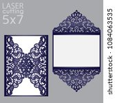 laser cut wedding invitation... | Shutterstock .eps vector #1084063535