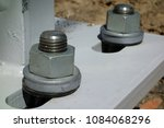 Pair Of Giant Bolts  Close Up