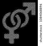 pixel white heterosexual symbol ...   Shutterstock .eps vector #1084068896