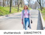 happy smiling fashionable plus... | Shutterstock . vector #1084079975
