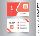 elegant business card with... | Shutterstock .eps vector #1084085378
