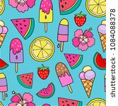 seamless vector pattern with... | Shutterstock .eps vector #1084088378