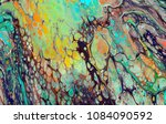 colorful and abstract acrylic...   Shutterstock . vector #1084090592