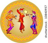 fair dancers   Shutterstock .eps vector #10840957