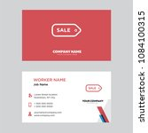 sale  price tag business card... | Shutterstock .eps vector #1084100315