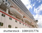 cruise liner rescue boats.... | Shutterstock . vector #1084101776