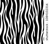 Zebra Seamless Pattern. Vector...