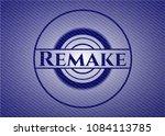 remake badge with denim... | Shutterstock .eps vector #1084113785