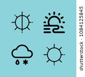 set of 4 weather outline icons... | Shutterstock .eps vector #1084125845