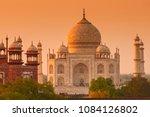 taj mahal at sunrise  agra ... | Shutterstock . vector #1084126802