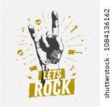 monochrome antique hipster... | Shutterstock .eps vector #1084136162