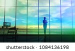 a silhouette of the business... | Shutterstock . vector #1084136198