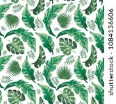 tropical seamless pattern with... | Shutterstock .eps vector #1084136606