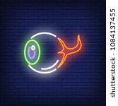 Human Eye Neon Sign. Horrible...