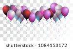 bright realistic helium vector... | Shutterstock .eps vector #1084153172