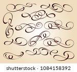calligraphic elegant elements... | Shutterstock .eps vector #1084158392