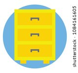 a chest of drawer table or... | Shutterstock .eps vector #1084161605