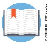 an open book with ribbon ... | Shutterstock .eps vector #1084161722