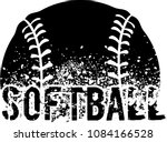 Silhouette Of An A Softball...