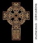 isolated celtic cross from... | Shutterstock .eps vector #1084168046