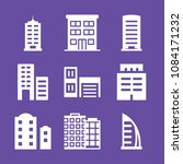 set of 9 apartment filled icons ... | Shutterstock .eps vector #1084171232