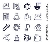 set of 16 food outline icons... | Shutterstock .eps vector #1084173152