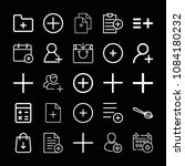 set of 25 add outline icons... | Shutterstock .eps vector #1084180232
