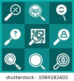 set of 9 search filled icons... | Shutterstock .eps vector #1084182602