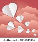 vector illustration of paper... | Shutterstock .eps vector #1084186346