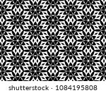 black and white seamless... | Shutterstock . vector #1084195808